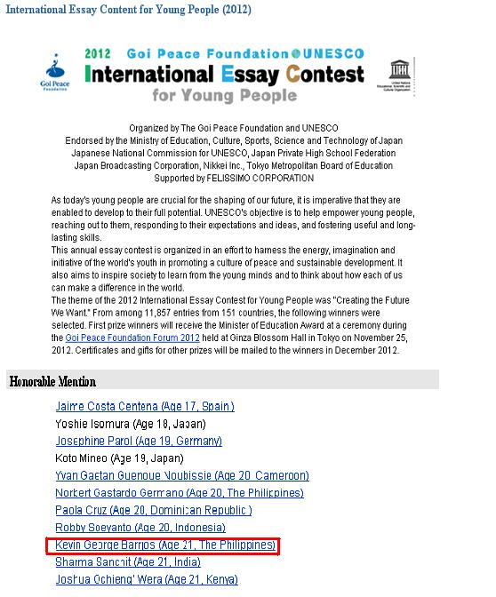 essay contest scholarships 2012