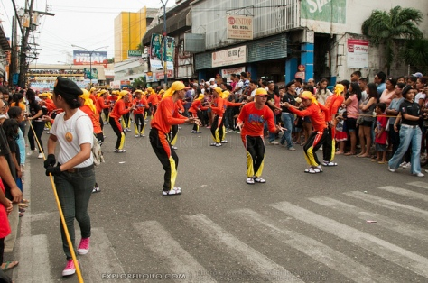 Tribe contenders parade along the downtown streets of Iloilo
